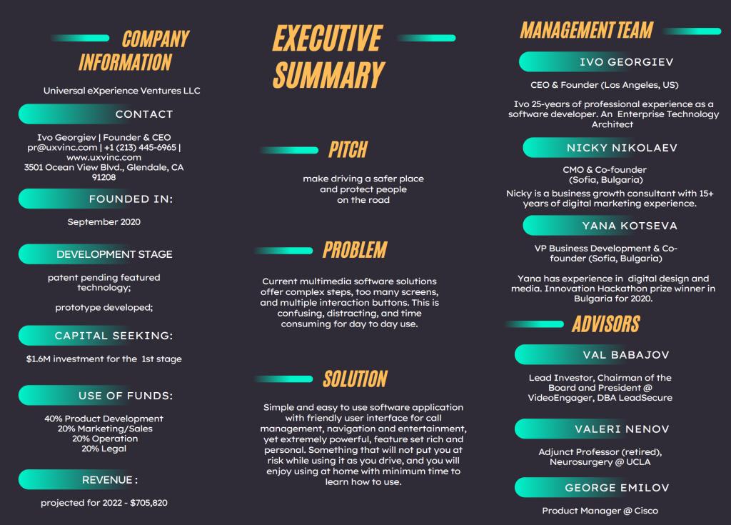 UXV Executive Summary